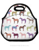 Fun Horse Pattern Equestrian Lunch Bag