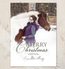 Classic Equestrian Flat Photo Template Christmas Card