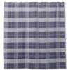 Blue Plaid Equestrian Shower Curtain