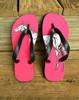 Pink Horse Equestrian Flip Flops