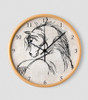 Horse head equestrian wall clock