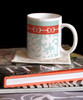 Equestrian Horse Bits Damask Pattern Ceramic Coffee Mug