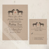 Whimsical Horses Wedding RSVP card (10 pk)
