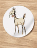 Horse Foal with Flower Baby Shower Stickers