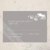 Jumping Horse Flourish Equestrian Wedding RSVP card