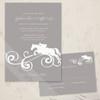 Jumping Horse Flourish Wedding RSVP card (10 pk)