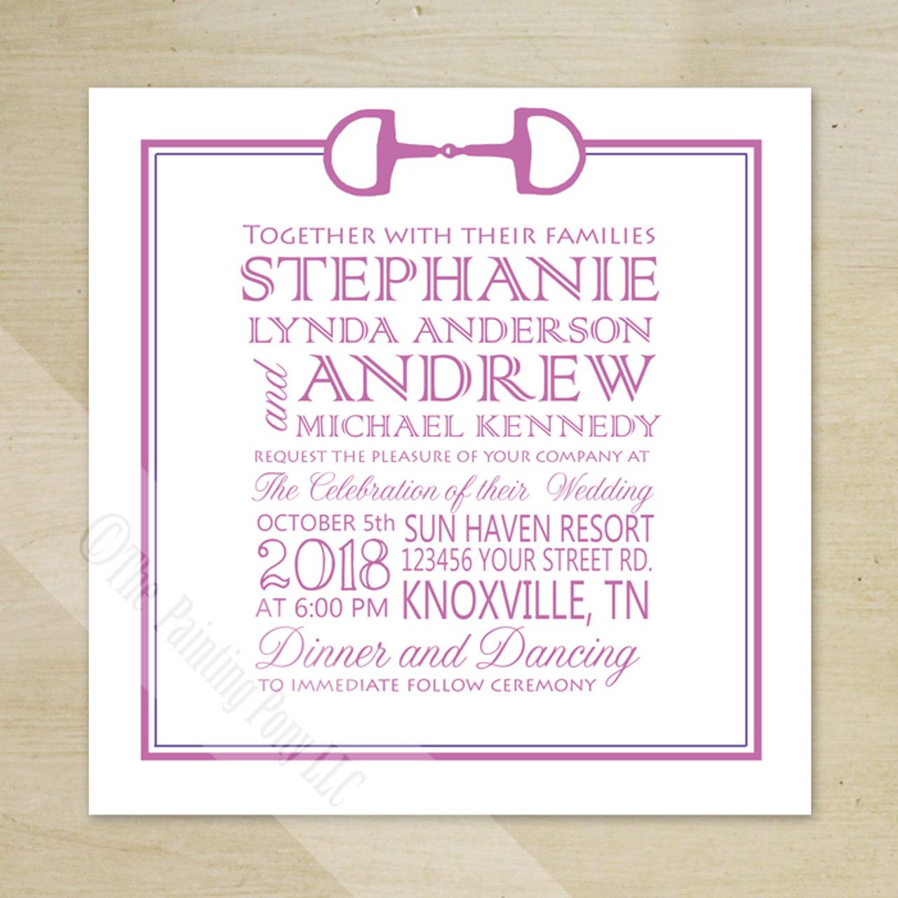 Equestrian Stationery - Birthday & Wedding Invitations - Horse ...