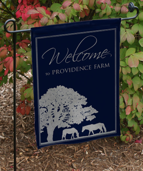 Custom Horse Farm Garden Flag