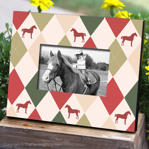 Holiday Patterned Horse Photo Frame