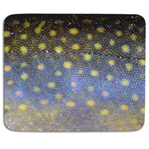 Brook Trout Fish Scales Mouse Pad