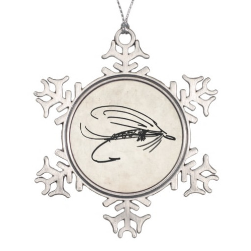 wet fly fishing lure christmas ornament