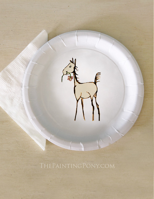 Whimsical Foal Baby Shower Paper Party Plates (8 pk)