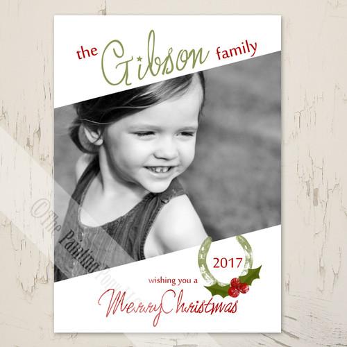 Equestrian themed photo christmas card