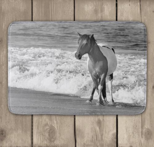 Beach horse equestrian bath mat