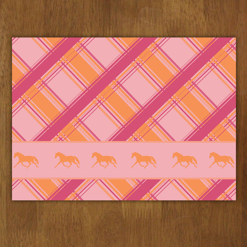 Plaid Horse Pattern Cloth Placemat