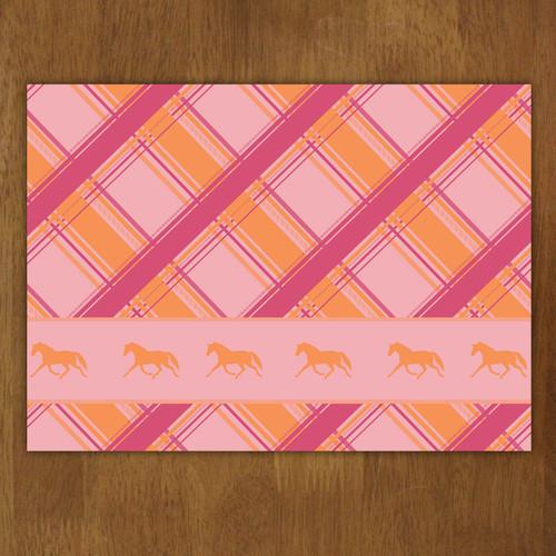 Plaid Horse Pattern Cloth Placemat