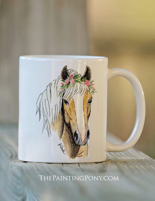 Haflinger Horse Head Art Ceramic Coffee Mug