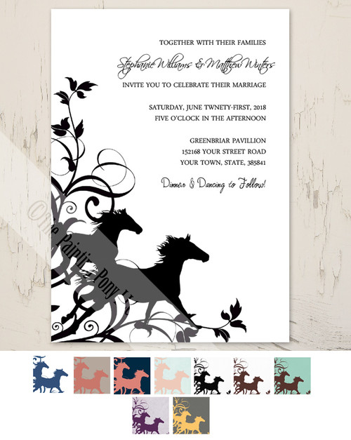 Galloping horse invite
