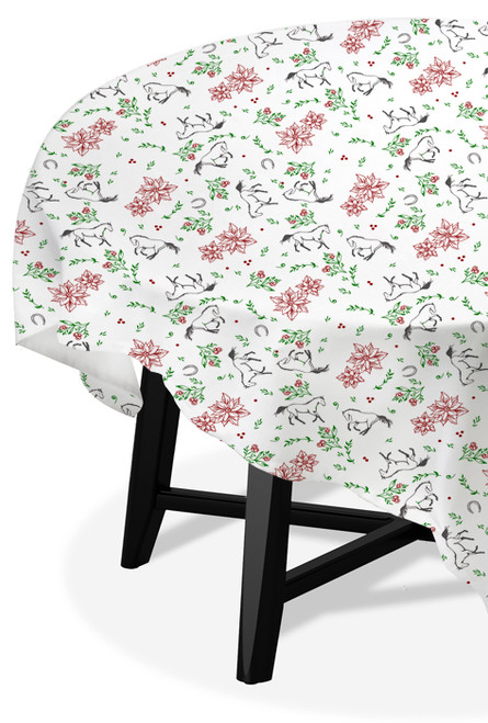 Christmas Equestrian Table Cloth