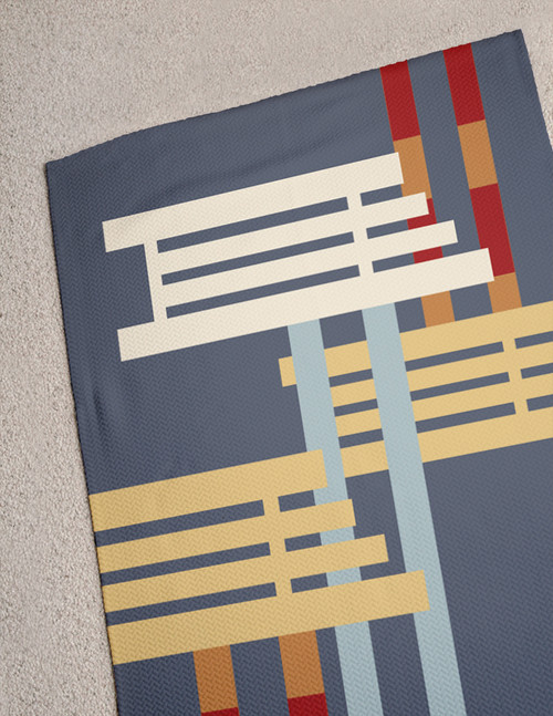 Abstract Horse Jumps Area Rug