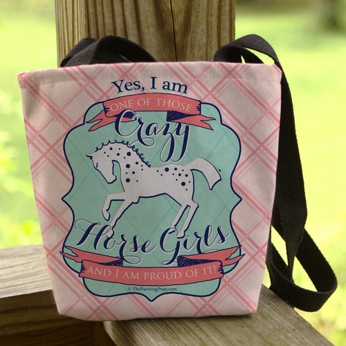 Crazy Horse Girl Equestrian Tote Bag