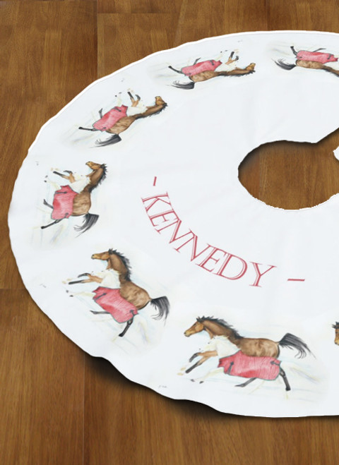 Dashing Through the Snow Horse Christmas Tree Skirt
