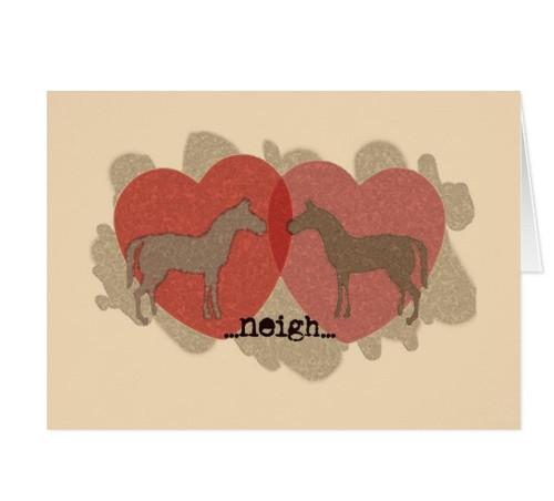 cute romantic pony card