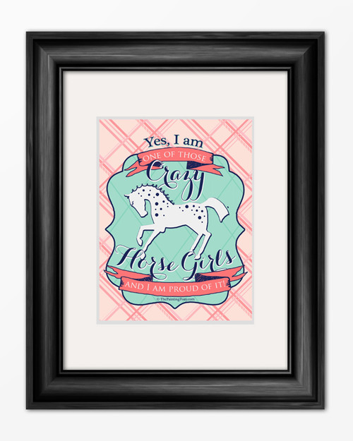 Crazy Horse Girl Equestrian Typography Print