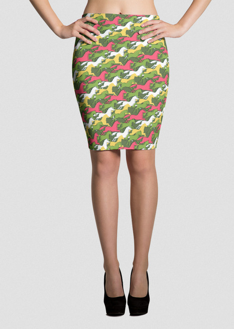 Derby Day Equestrian Pencil Skirt