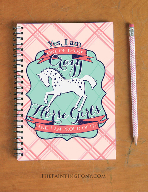 Crazy Horse Girl Equestrian Spiral Notebook