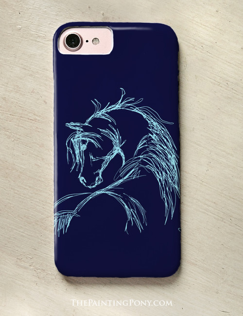 Horse Head Sketch Phone Case