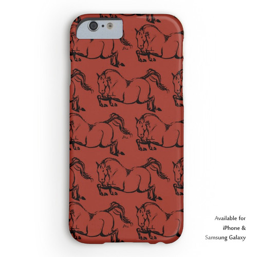 Equestrian jumper horse phone case