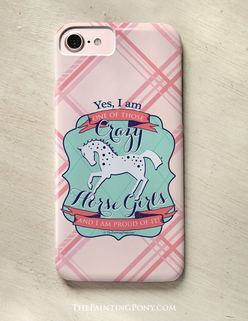 Crazy Horse Girl Equestrian Phone Case