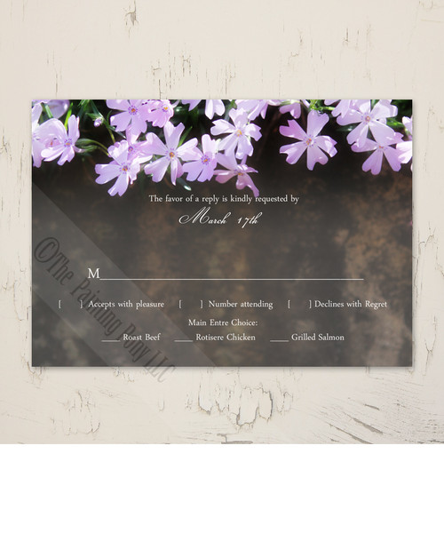 Phlox Flowers Wedding RSVP card (10 pk)
