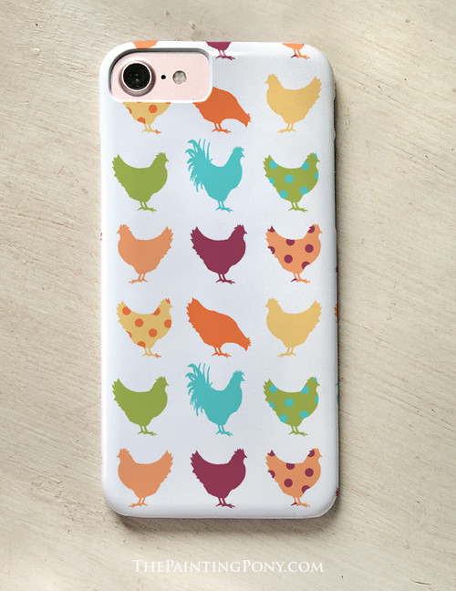 Funky Chicken Pattern Phone Case