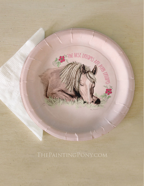 Pony Dreams Paper Slumber Party Plates (8 pk)