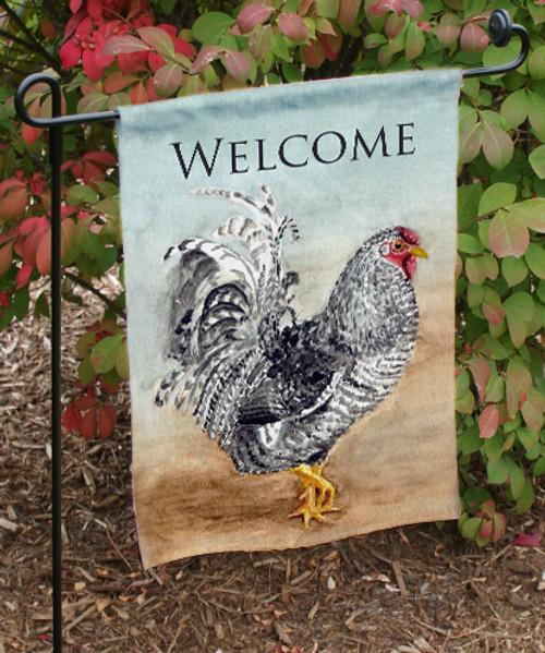 Rooster Art Chicken Lover Garden Flag