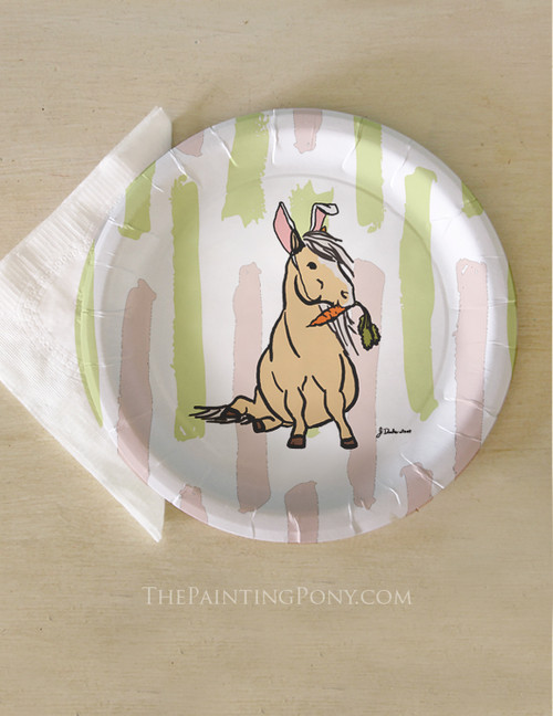 Equestrian stationery wedding party favors horse lover paper easter pony equestrian paper party plates 8 pk negle Gallery