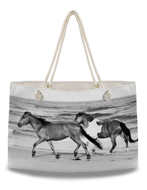 Galloping Beach Horses Equestrian Weekender Tote Bag
