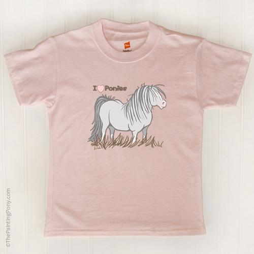 I Love Ponies Kids T Shirt