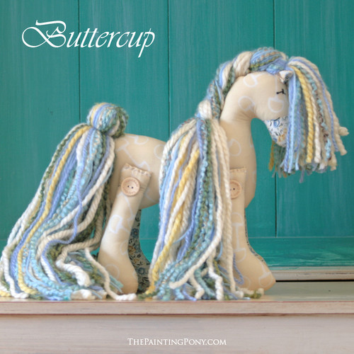 "SOLD Signature Flopsy Cotton Pony ""Buttercup"""