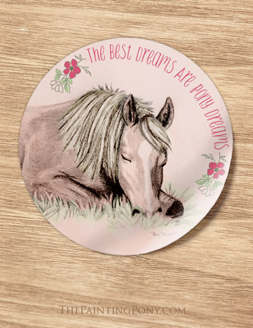 Pony Dreams Slumber Party Favor Stickers