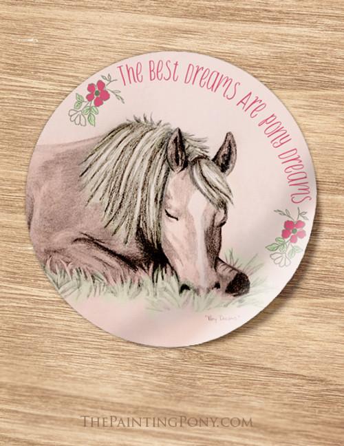 Pony Dreams Slumber Party Favor Stickers