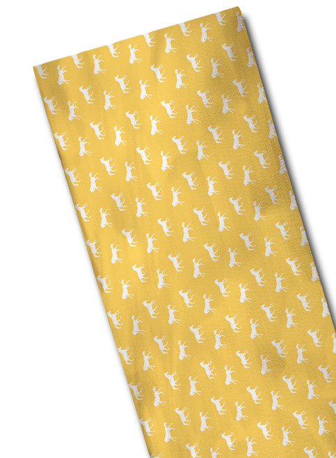 yellow and white equestrian scarf