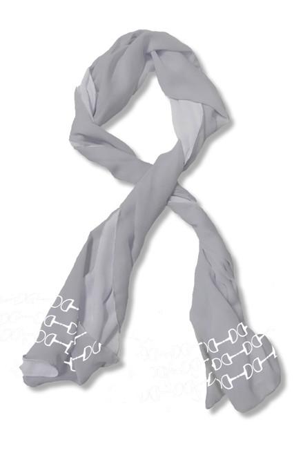 Horse Bit line border scarf