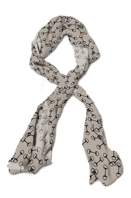 Classic horse bits equestrian scarf