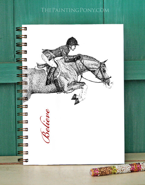 Custom Hunter Jumper Horse Bullet Journal