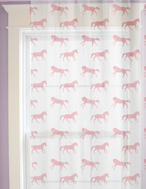 Galloping Horses Pattern Window Curtains