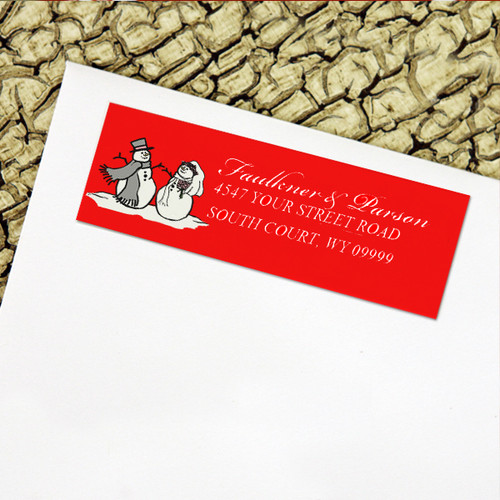 Snowman and Bride Return Address Labels