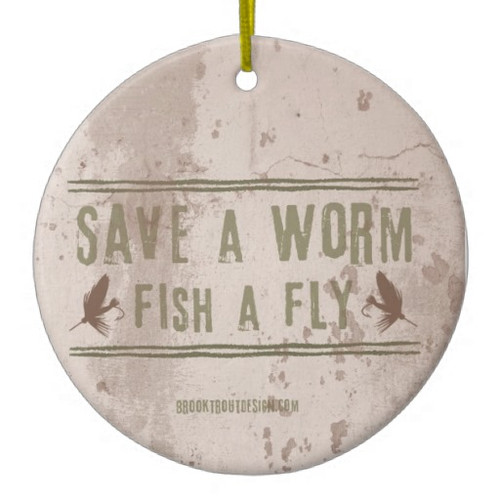Save A Worm Fishing Ornament